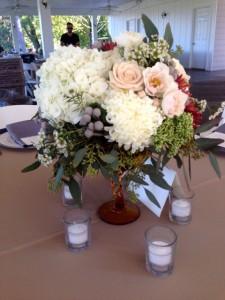 Guest table centerpieces…gorgeous!