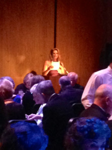 Dinner began with a welcome from Elizabeth Shatner, 2014 Signature Artist.