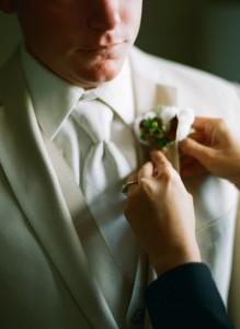 Kristin pins bout groom