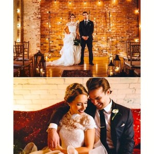 Our bridal couple, picture by Aesthtiica Photography.