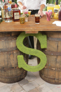 bar with monogram