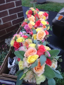 Summer colored roses made the perfect match for this summer wedding.