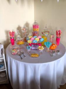 Cute candy buffet.