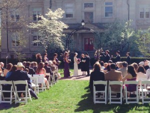Historic Gratz Park is a beautiful location for an outdoor ceremony downtown.