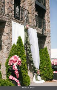 front drape.arrangement side view