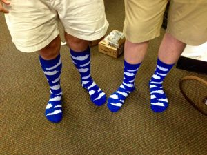 How fun are these socks the groomsmen received as gifts!
