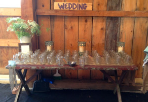 mason jar table