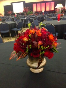 The medium size floral arrangements were a good in between  with the short and tall arrangements.