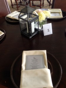 place settings at the reception