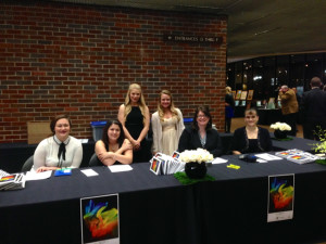 The registration and check out table was worked by the Great Expectations team.