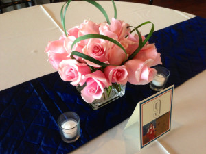 short rose w table #